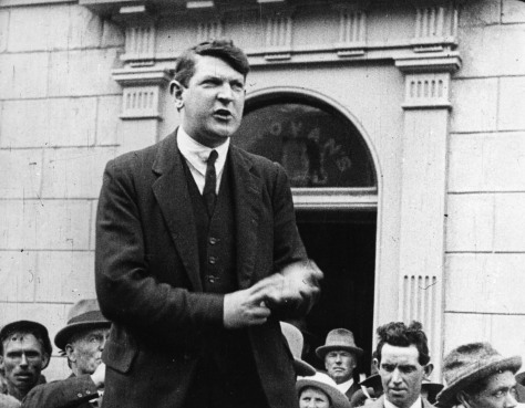 photo of Michael Collins speaking 1922 Clonakilty County Cork