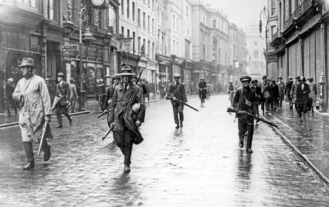 Photo of IRA men in Grafton Street Dublin - courtesy Eireann Ascendant